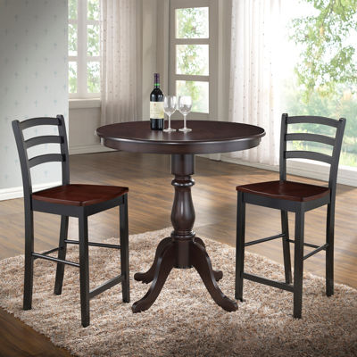 "Salem 36"" Round Pedestal Bar Table"