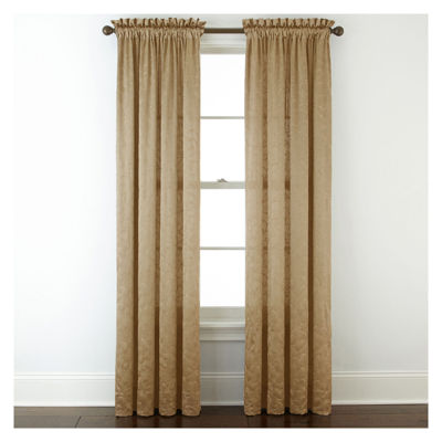 Royal Velvet® Hilton Embroidery Rod-Pocket Curtain Panel