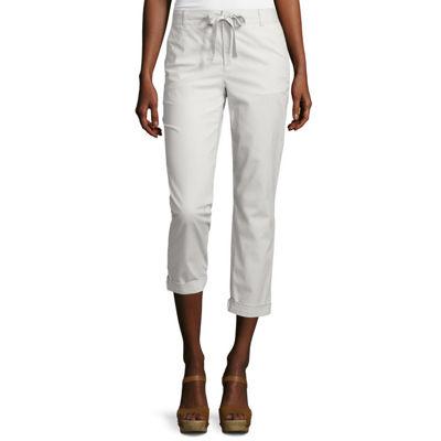 Liz Claiborne® Poplin Cropped Pants