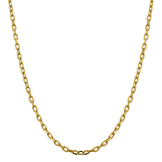 14k Gold 24 Inch Semisolid Cable Chain Necklace