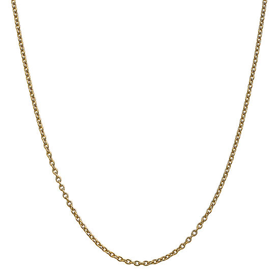 14k Gold 24 Inch Solid Cable Chain Necklace