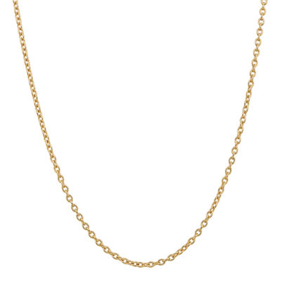 14K Gold 16 Inch Solid Cable Chain Necklace
