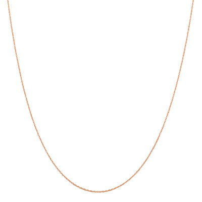 14K Rose Gold Solid Rope Chain Necklace