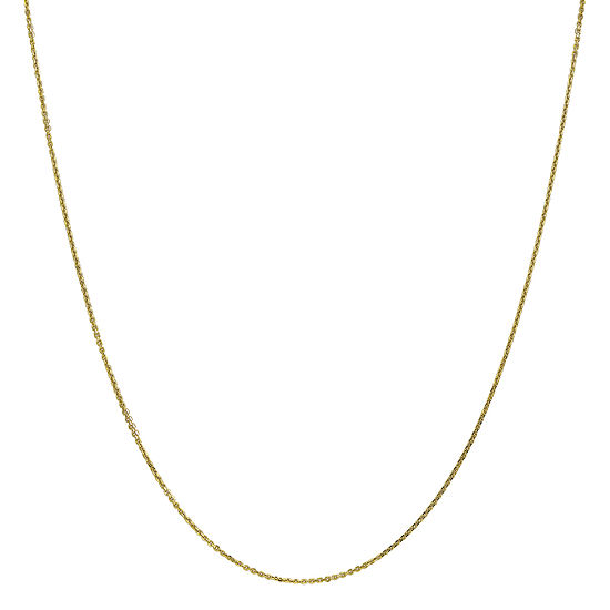 10K Gold Solid Cable Chain Necklace