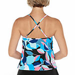 St. John's Bay Abstract Tankini Swimsuit Top