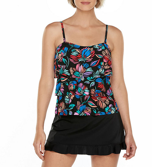 St. John's Bay Abstract Tankini Swimsuit Top or Swimsuit Bottom