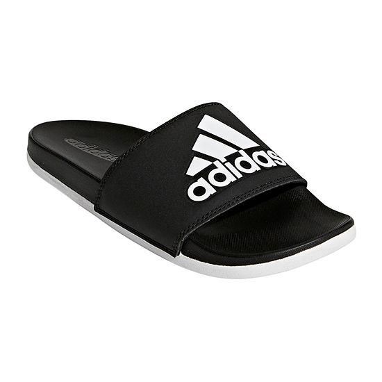 timeless design 537f9 261ca adidas Adilette Cloudfoam Logo Womens Slide Sandals JCPenney