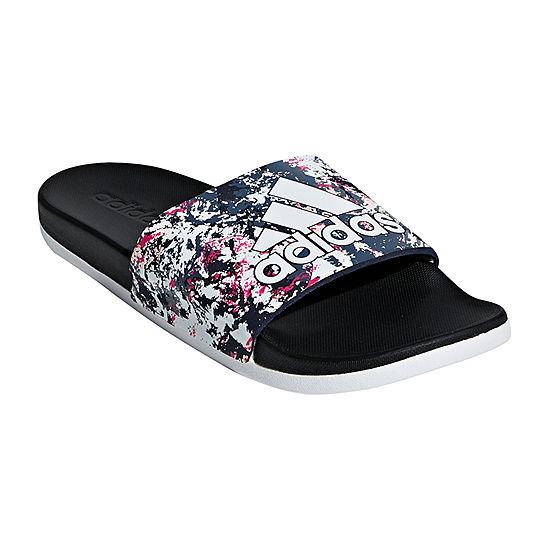 d01ee29eb adidas Adilette Cloudfoam + GR Womens Slide Sandals - JCPenney