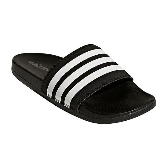 brand new 26355 d743f adidas Adilette Cloudfoam Striped Womens Slide Sandals JCPenney