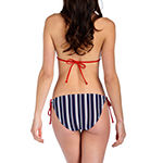 Arizona Striped Triangle Bikini Swimsuit Top Juniors