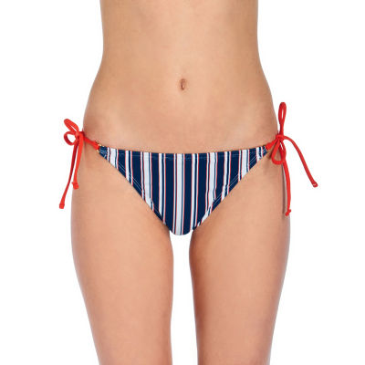 Arizona Striped Hipster Swimsuit Bottom-Juniors