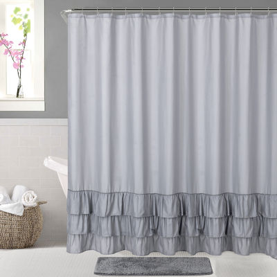 Ruffle Shower Curtain Set