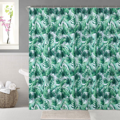 Tropical Leaves Shower Curtain Set