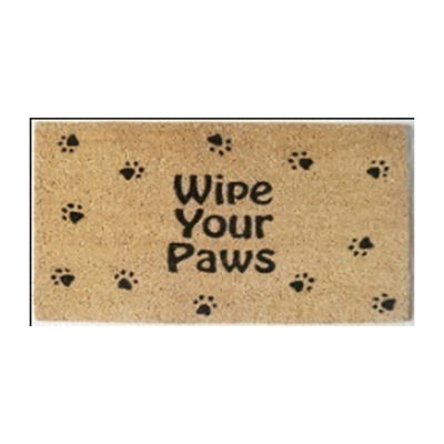 PAW & TAIL 18 x 30 in. VBC Wipe Your Paws Doormat