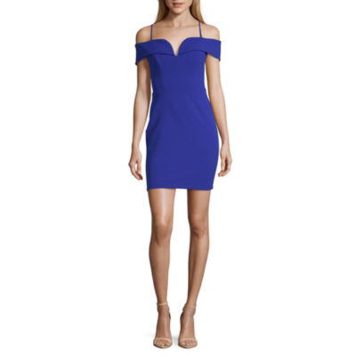B. Darlin Short Sleeve Bodycon Dress-Juniors