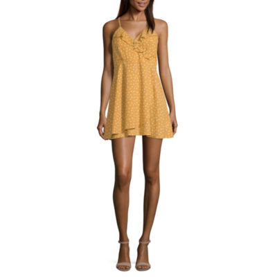 Speechless Sleeveless Dots Fit & Flare Dress-Juniors