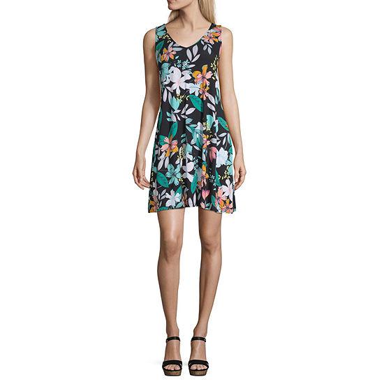 ANA Sleeveless Swing Dresses (Zina Floral/Black/Mimi Floral/Brandie Strip/Oceana Floral)