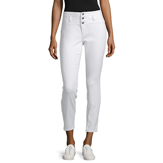 Us Polo Assn. Womens High Waisted Skinny Fit Ankle Pant-Juniors