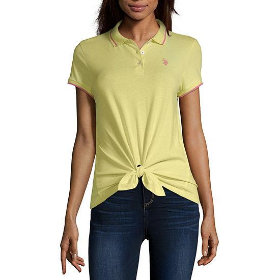 Us Polo Assn. Juniors Womens Short Sleeve Polo Shirt