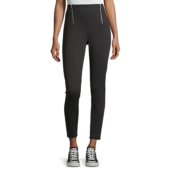 Almost Famous Womens High Waisted Ankle Pull-On Pants-Juniors