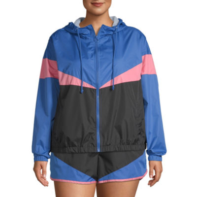 Flirtitude Lightweight Windbreaker-Juniors Plus