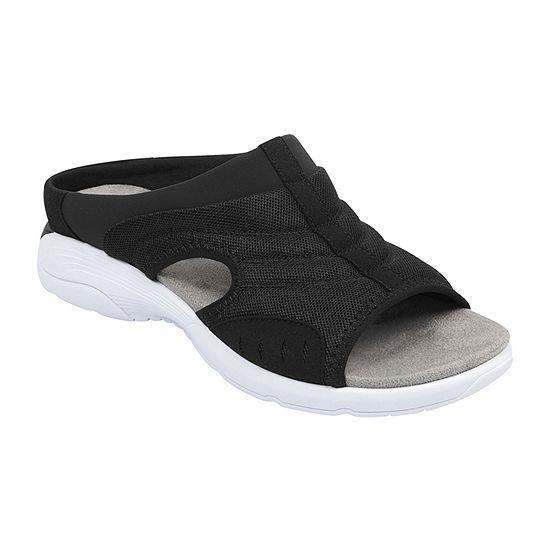 Easy Spirit Womens Traciee Open Toe Slip-On Shoe