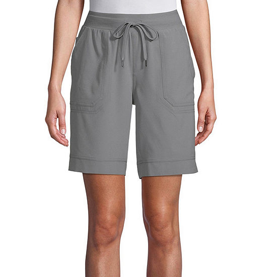 St. John's Bay Womens Mid Rise Adjustable Waist Pull-On Short