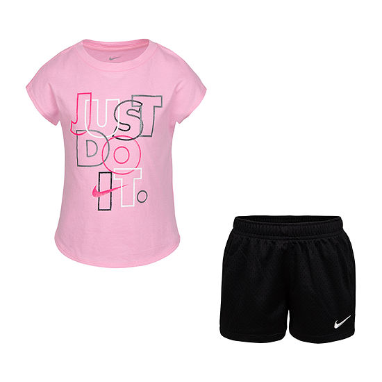 Nike Little Girls 2-pc. Short Set