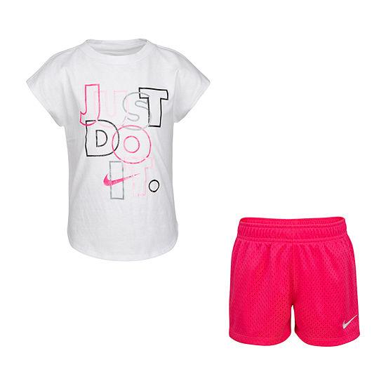 Nike Little Kid Girls 2-pc. Short Set