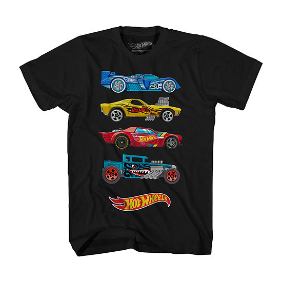 Little & Big Boys Crew Neck Hot Wheels Short Sleeve Graphic T-Shirt