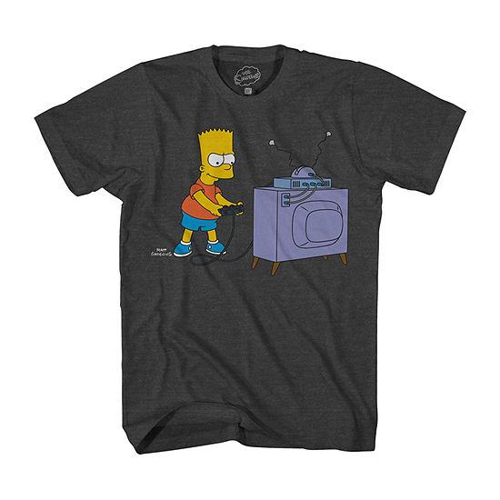 The Simpsons - Boys Crew Neck Short Sleeve Graphic T-Shirt Little Kid / Big Kid