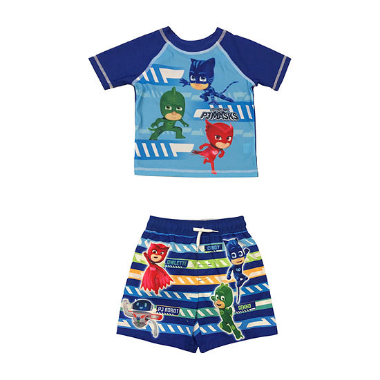 PJ Mask- Toddler Rash Guard Set