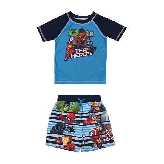 Marvel Toddler Rash Guard Set