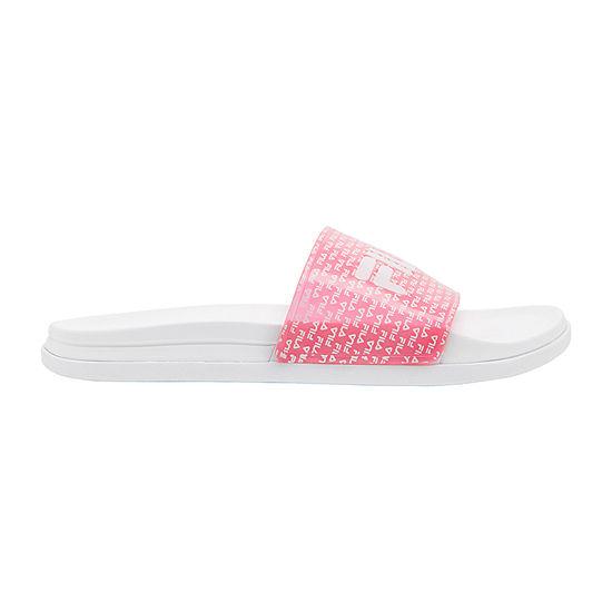Fila Womens Drifter Lux Repeat Slide Sandals