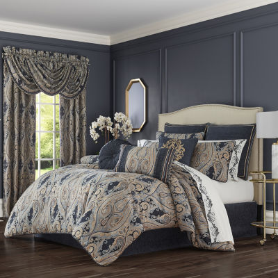 Queen Street Lawrence 4-pc. Jacquard Heavyweight Comforter Set