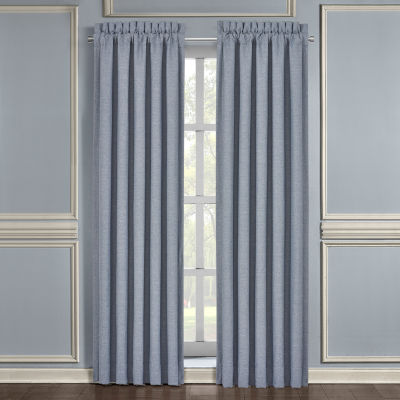 Queen Street Augusta Light-Filtering Rod-Pocket Set of 2 Curtain Panel