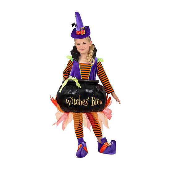 Girls Cauldron Witch Costume