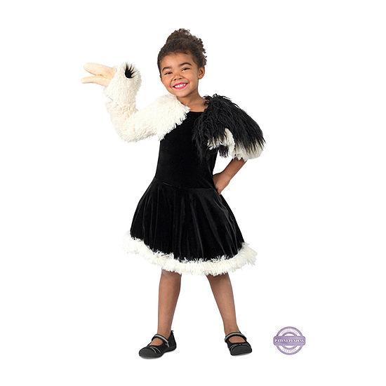 Girls Playful Puppet Ostrich Costume