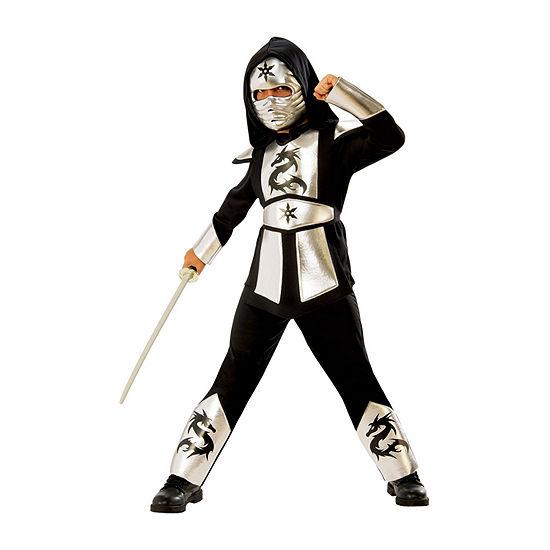 Boys Silver Dragon Ninja Costume