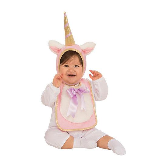 Baby Unicorn Bib & Hat Costume