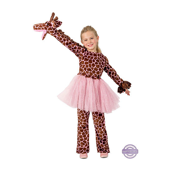 Girls Playful Puppet Giraffe Costume