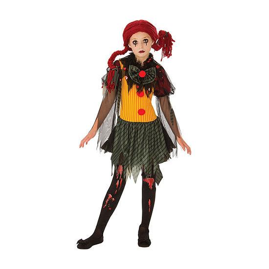 Girls Zombie Clown Costume