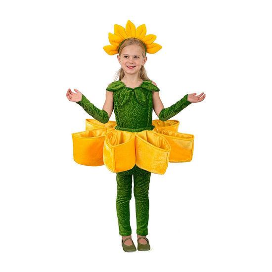 Buyseasons Girls Sunflower Petal Pocket Costume