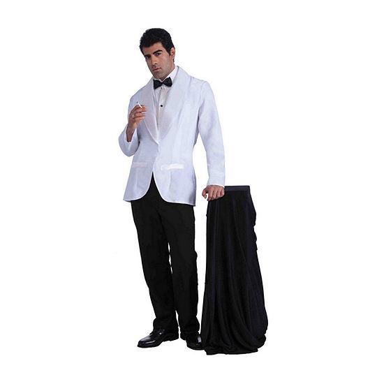 Mens Vintage Hollywood Formal White Jacket