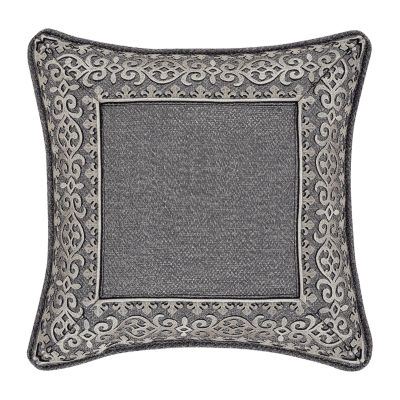 Queen Street Trevor 18x18 Embellished Square Throw Pillow