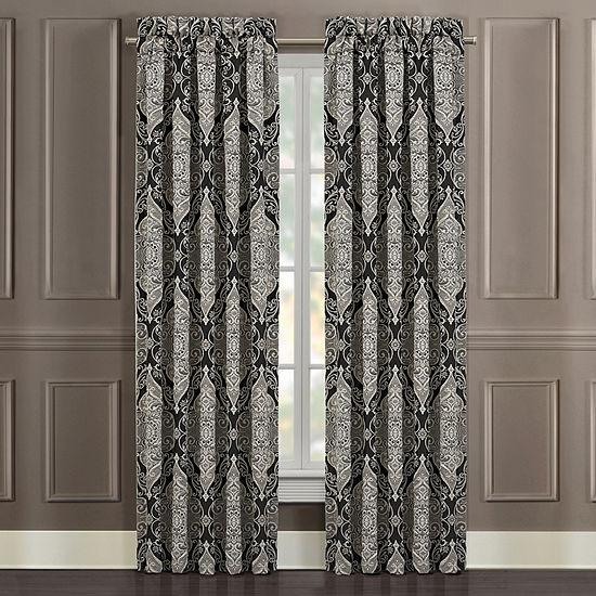 Queen Street Virginia Room Darkening Rod-Pocket Set of 2 Curtain Panel