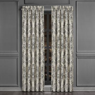 Queen Street Anita Room Darkening Rod-Pocket Set of 2 Curtain Panel