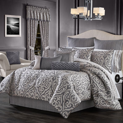 Queen Street Trevor 4-pc. Damask + Scroll Heavyweight Comforter Set