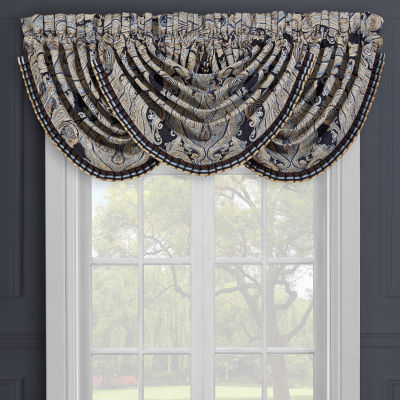 Queen Street Lawrence Rod-Pocket Waterfall Valance