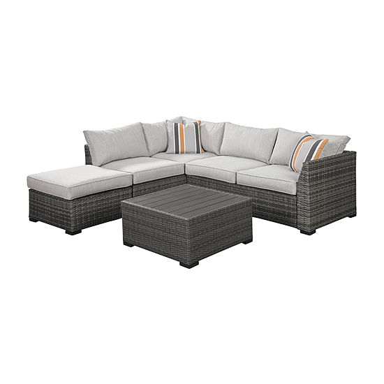 Signature Design by Ashley Cherry Point 4-pc. Patio Sectional